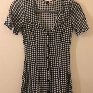 Gingham Dress Black & White H&M Size 2